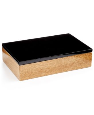 Closeout Home Design Studio Faux Wood Box