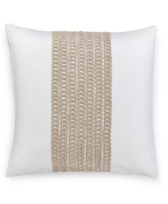 "Hotel Collection Waffle Weave 18"" Square Decorative Pillow, Only at Macy's"