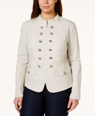 INC International Concepts Plus Size Long-Sleeve Military-Style ...