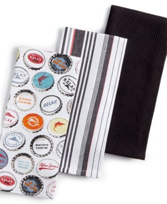 Tommy Bahama 3-Pc. Bottlecap Kitchen Towel Set