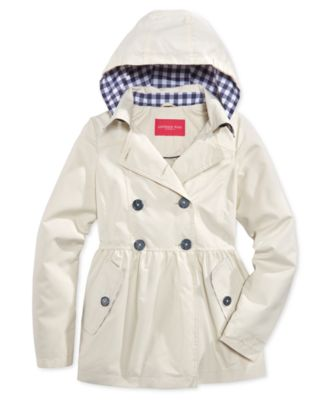 London Fog Girls' Hooded Trench Coat - Coats & Jackets - Kids ...