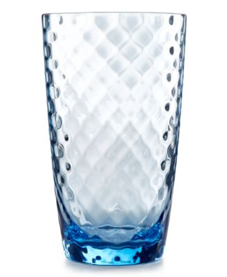 Home Design Studio Blue Acrylic Drinkware Collection Highball Glass, Only at Macy's