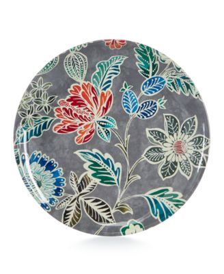 Home Design Studio Floral Melamine Dinnerware Collection Salad Plate, Only at Macy's