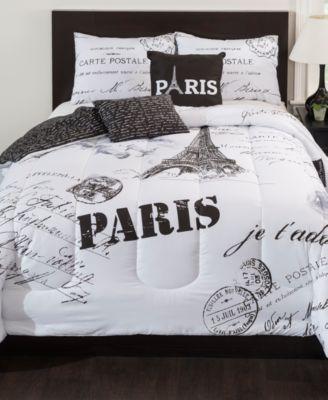 paris 5pc queen comforter set