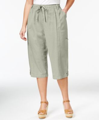 Style & Co. Sport Plus Size Woven Capri Pants, Only at Macy's ...