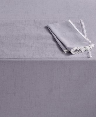 "Lenox French Perle 60"" x 102"" Violet Tablecloth"