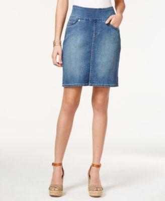 JAG Ingram Medium Wash Pull-On Denim Skirt - Skirts - Women - Macy's