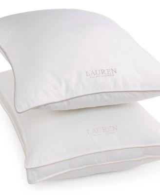 Lauren Ralph AAFA Certified 300 Thread Count Firm Density Down Alternative King Pillow