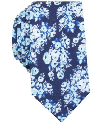 Bar Iii Men S Siena Fl Print Skinny Tie Only At Macy