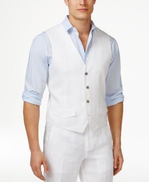 1920s Style Mens Vests Tasso Elba Mens Linen Vest Only at Macys $21.99 AT vintagedancer.com