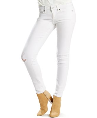 Levi's® 711 Skinny Late Night White Jeans - Jeans - Women - Macy's