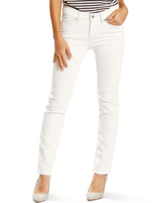 Levi's® 712 Slim-Fit Soft White Wash Jeans - Jeans - Women - Macy's