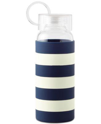 kate spade new york Navy Rugby Stripe Water Bottle