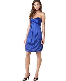 Macy*s - Women's - Nicole Miller Silk Strapless Bubble Dress from macys.com