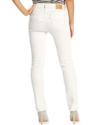 Levi's® 712 Slim-Fit Soft White Wash Jeans - Jeans - Women - Macy's