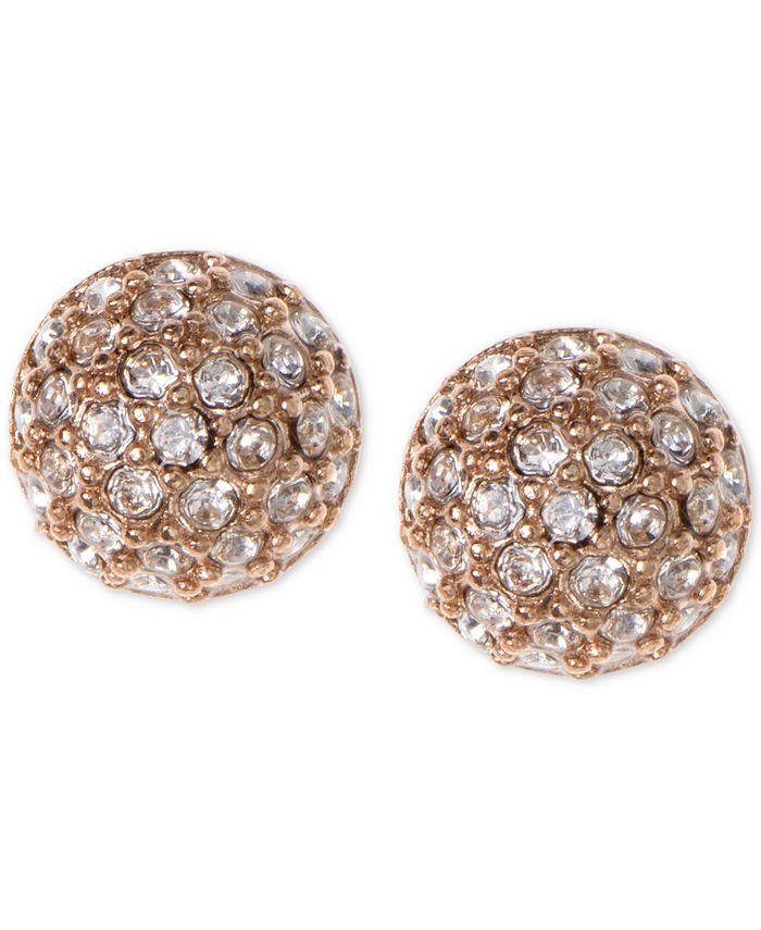 Givenchy - Earrings, Rose Gold-Tone Crystal Button Earrings