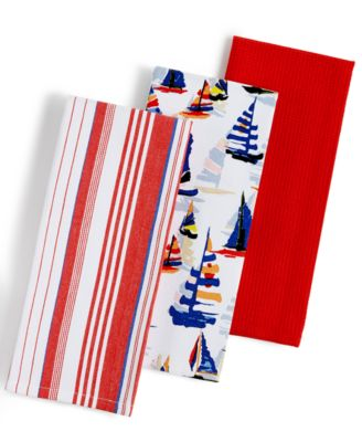 Tommy Bahama 3-Pc. Regatta Kitchen Towels Set