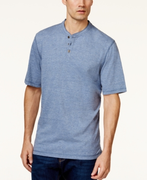 Weatherproof Vintage Melange Jersey Henley Shirt plus size,  plus size fashion plus size appare