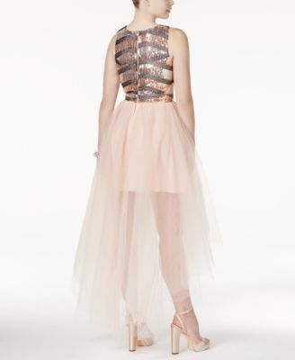 Trixxi Juniors Dress Cap Sleeve Sequin Tulle