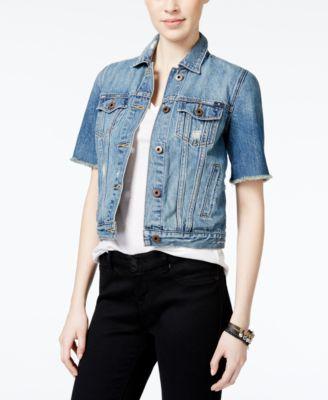 Lucky Brand Trucker Short-Sleeve Denim Jacket - Women's Brands ...