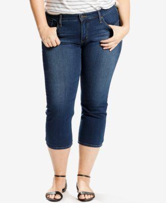 Levi's Plus Size Restless Wind Wash Shaping Capri Jeans - Jeans ...