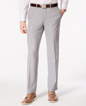 1920s Style Men's Pants & Plus Four Knickers Bar Iii Mens Light Gray Slim Fit Pants Only at Macys $99.99 AT vintagedancer.com