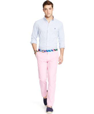 Polo Ralph Lauren Men\u0026#39;s Men\u0026#39;s Long Sleeve Tattersall Stretch Performance Shirt