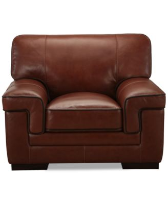 Myars Leather Chair, a Macy's Exclusive Style Furniture Macy's
