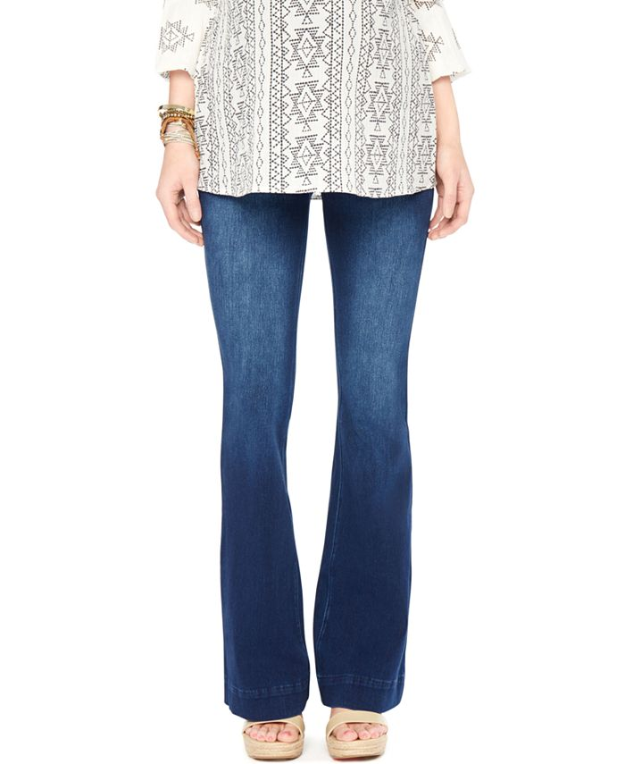 Wendy Bellissimo - Flared Dark Wash Maternity Jeans