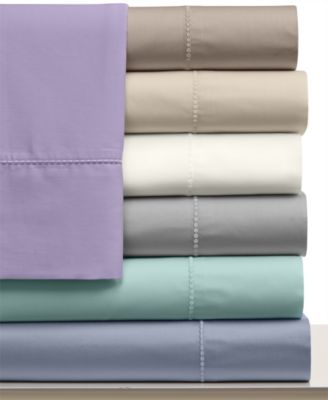 Martha Stewart Collection 300 Thread Count Cotton Queen Flat Sheet