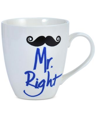 Pfaltzgraff Mr. Right Mustache Mug