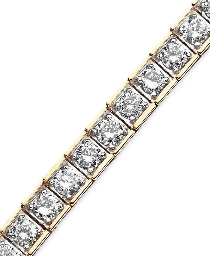 Macy's - Diamond Bracelet in 10k Gold (5 ct. t.w.)