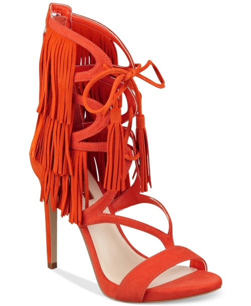 Guess Women's Abria Fringe Embellished Sandals Women's Shoes