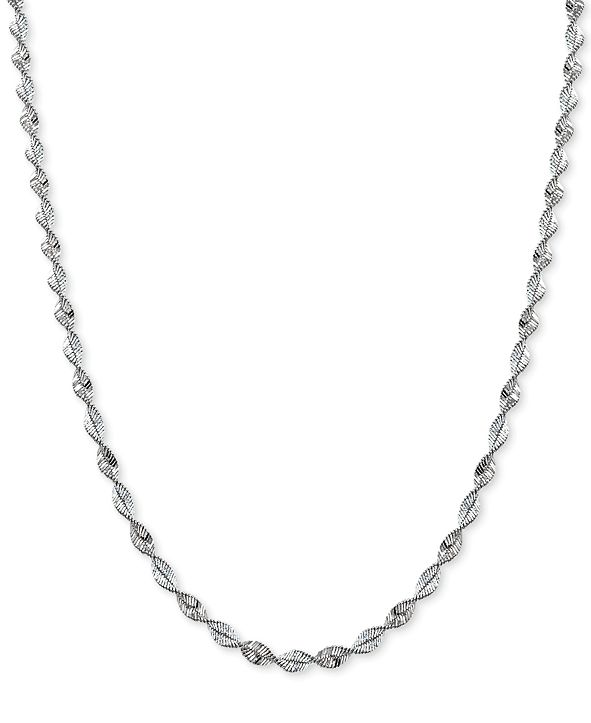 Giani Bernini Twisted Magic Necklace in Sterling Silver, Created for Macy's