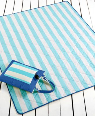 "Martha Stewart Collection Cabana Stripe 60"" x 72"" Beach Blanket, Only at Macy's"