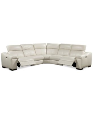 Kelsee 5-Pc. Leather Sectional with 2 Power Motion Recliners Only at Macyu0027s  sc 1 st  Macyu0027s : macys leather sectional sofa - Sectionals, Sofas & Couches
