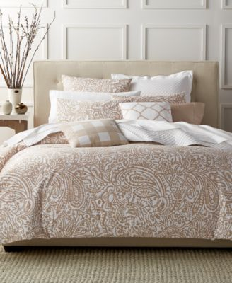 Charter Club Damask Designs Paisley Taupe Full/Queen Comforter Set, Only at Macy's