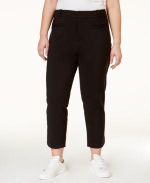 Rachel Rachel Roy Curvy Trendy Plus Size Cropped Pants