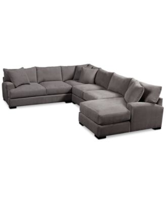 Rhyder 4-Pc. Fabric Sectional with Chaise  sc 1 st  Macyu0027s : macys radley sectional - Sectionals, Sofas & Couches
