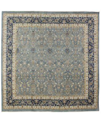 Macyu0027s Fine Rug Gallery Manali B600170 Light Blue 8u0027 X 8u00271u0027u0027 Square  Hand Knotted Rug