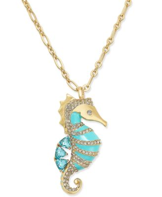 Kate spade new york gold tone blue enamel and pav seahorse kate spade new york gold tone blue enamel and pav seahorse pendant necklace aloadofball Gallery