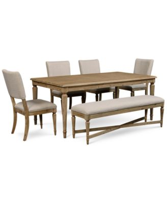 Summerside 6 Pc Dining Set Table 4 Chairs Bench