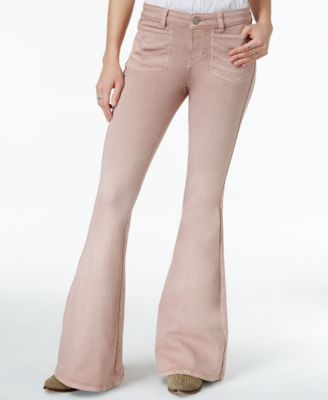 GUESS Braided Blue Wash Flare-Leg Jeans - Jeans - Women - Macy's