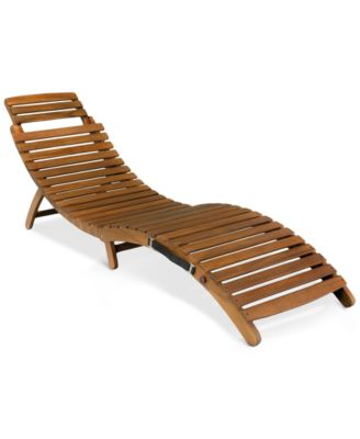 Selvin Outdoor Chaise Lounge, Direct Ship
