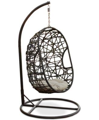 Carlan Wicker Swing Chair, Direct Ship