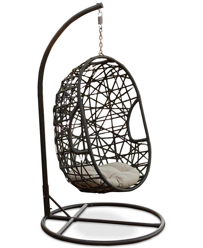 Noble House - Carlan Wicker Swing Chair, Direct Ship