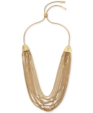 Kenneth Cole New York Coral Canyon Gold-Tone Multi-Row Chain Collar Necklace