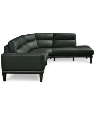 Dayle Leather 2 Pc. Sectional Sofa Furniture Macy's