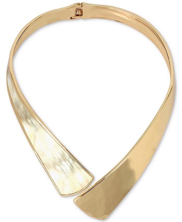 Robert Lee Morris Soho - Gold-Tone Corn Hinged Collar Necklace