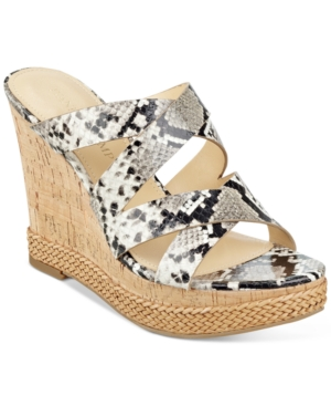 Ivanka Trump Habbie Strappy Wedge Platform Sandals Women's Shoes